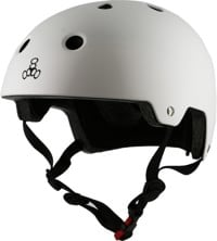 Triple Eight Brainsaver EPS Dual Certified Skate Helmet - white rubber