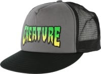 Creature Logo Mesh Trucker Hat - black/grey