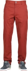 RVCA Week-End Stretch Pants - red earth