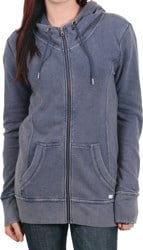 Volcom Trapped Stone Long Zip Hoodie - midnight blue