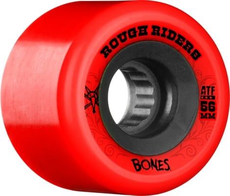 Bones ATF Rough Riders Skateboard Wheels - red (80a) - view large