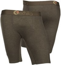 Ethika Staple Boxer Brief - brown heather