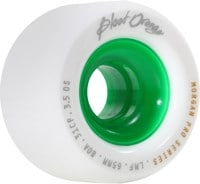 Blood Orange Morgan Pro Longboard Wheels - white/green core (80a)