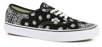 Vans Authentic Skate Shoes - (bandana) black/true white