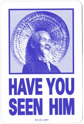 Powell Peralta Have You Seen Him Sticker - blue