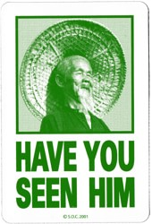 Powell Peralta Have You Seen Him Sticker - green