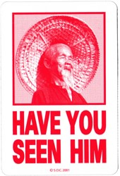 Powell Peralta Have You Seen Him Sticker - red