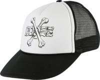 Powell Peralta Cross Bones Trucker Hat - black/white