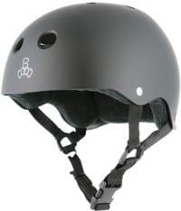 Triple Eight Brainsaver Multi-Impact Sweatsaver Skate Helmet - all black rubber