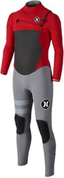 Hurley Boy's Fusion 4/3mm Kids Full Wetsuit - gym red
