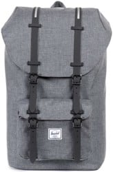 Herschel Supply Little America Backpack - charcoal crosshatch/black insert/rubber
