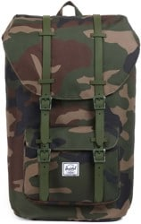 Herschel Supply Little America Backpack - wooldand camo/army rubber