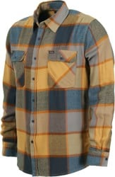 Brixton Bowery Flannel Shirt - yellow/charcoal