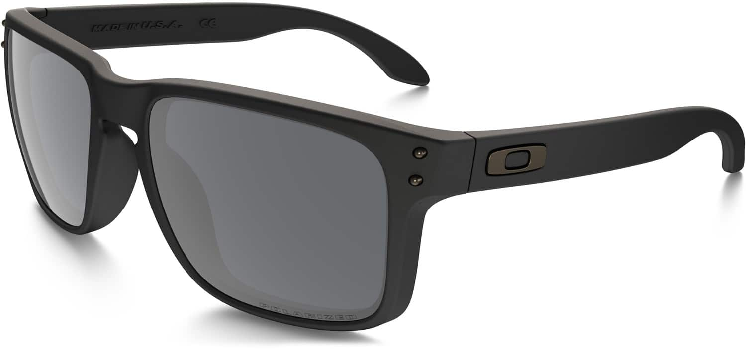 oakley holbrook sunglasses black  matte black/black iridium polarized lens view large