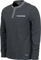 Roark Dati Knitted L/S T-Shirt - black heather