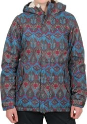 686 Women's Authentic Paradise Insulated Jacket - coffee deco