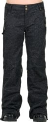 686 Women's Parklan After Dark Pants 2016 - black wool like denim