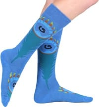 Burton Women's Party Snowboard Socks - peacock