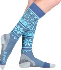 Burton Women's Ultralight Wool Snowboard Socks - dusk