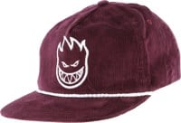 Spitfire Bighead Unstructured Snap Back Hat - maroon