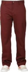 Volcom Frickin Modern Stretch Chino Pants - cherrywood