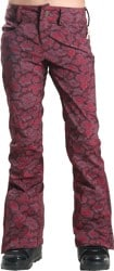 686 Women's Authentic Gossip Softshell Pants 2016 - wine paisley print