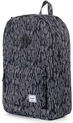 Herschel Supply Heritage Backpack - b/w rain camo/black rubber