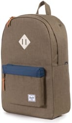 Herschel Supply Heritage Backpack - beech crosshatch blue/natural rubber