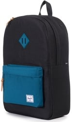 Herschel Supply Heritage Backpack - black/ink blue rubber