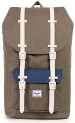 Herschel Supply Little America Backpack - beech crosshatch/navy//natural rubber