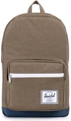 Herschel Supply Pop Quiz Backpack - beech crosshatch navy
