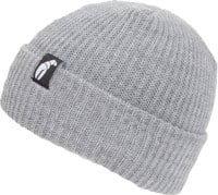 Crab Grab Claw Label Beanie - heather grey