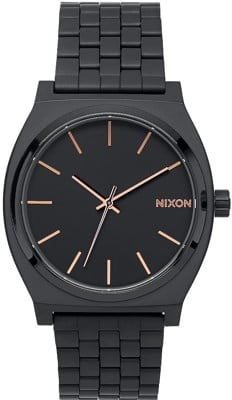 Nixon Time Teller Watch - all black/rose gold - view large