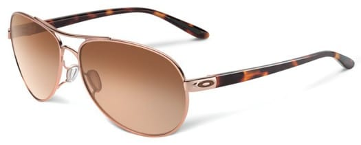 Oakley Feedback Sunglasses - rose gold/vr50 brown gradient lens - view large