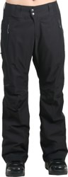 Patagonia Women's Slim Powder Bowl Gore-Tex Insulated Pants 2016 - black w/ forge grey