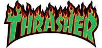 Thrasher Flame LG Sticker - green text