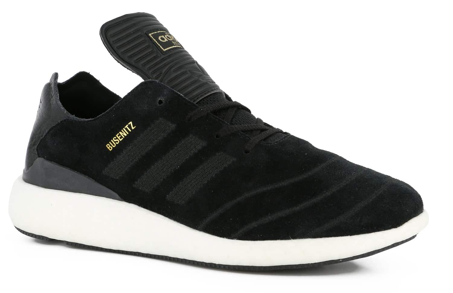 promo code 18140 ec79a adidas busenitz pure boost prime all black shoes