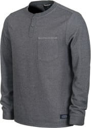 Roark Dati Knitted L/S T-Shirt - charcoal