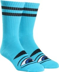 Toy Machine Sect Eye III Crew Sock - aqua