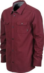 Nixon Corporal Wool Jacket - burgundy heather