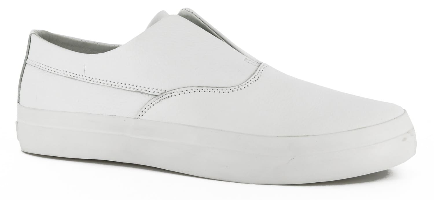 huf slip on skate shoes white leather free shipping