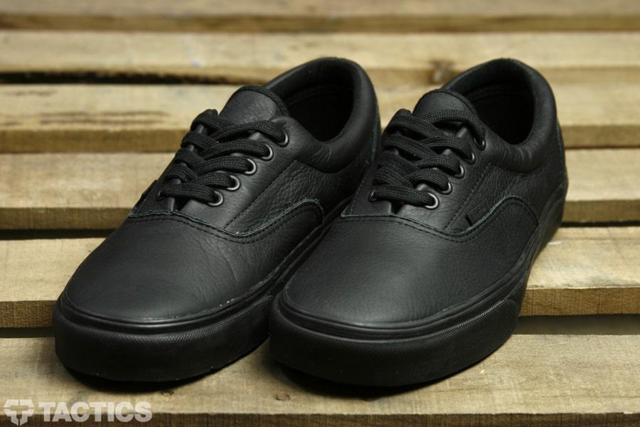 all black leather vans era