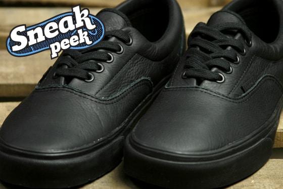 vans era leather all black