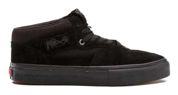 vans half cab all black