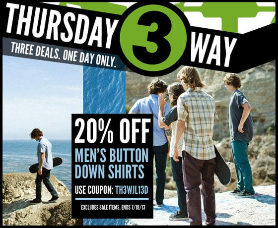 Thursday Threeway: Best Button-Downs