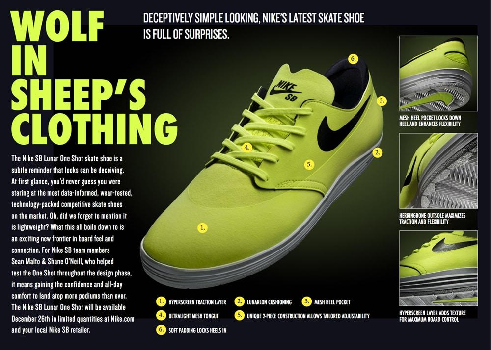 detailed look 057e0 e08a4 Nike SB Lunar One Shot Skate Shoes