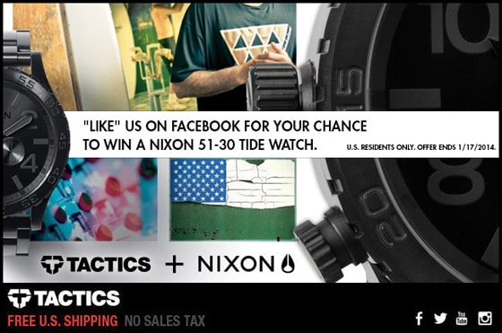 Nixon 51-30 Tide Watch Giveaway