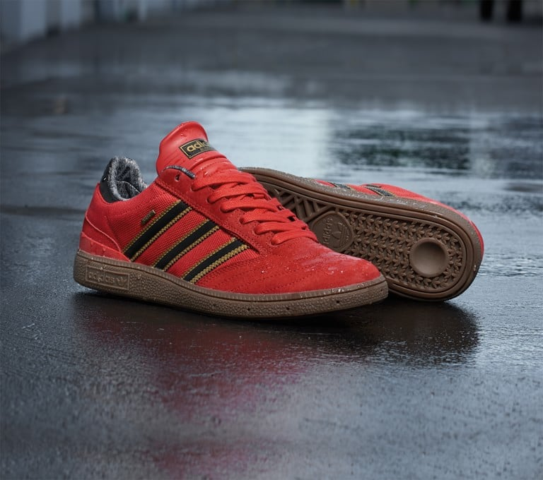 Adidas con lo skateboard busenitz professionista in gore - tex skate shoes