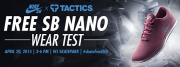 Nike SB Skate Free Nano Wear Test at WJ Skate Park + Urban Plaza