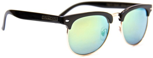 Happy Hour Bryan Herman G2 Sunglasses - gloss black/gold mirror lens - view large